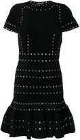 Alexander McQueen eyelet embellished dress