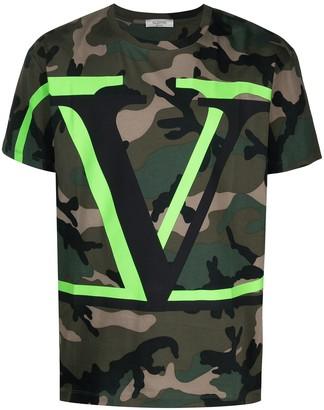 Valentino VLOGO camouflage-print T-shirt
