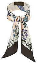 Manipuri Butterfly And Floral Print Twilly Scarf