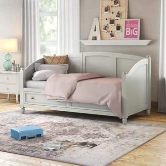 Three Posts Cusick Twin Daybed Color: White, Accessories: Storage