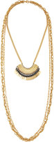 Fragments for Neiman Marcus Triple-Strand Multi-Media Layered Necklace, Gold