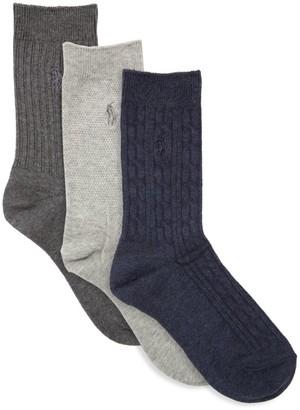 Ralph Lauren Little Boy's & Boy's Six-Pack Classic Texture Socks