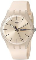 Swatch Unisex SUOT700 Rose Rebel Analog Display Quartz Pink Watch