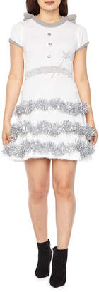 City Streets Holiday Angel Light Up Dress-Juniors