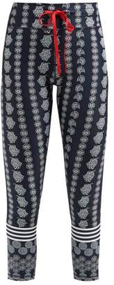 The Upside Daisy Chain Floral-print Cropped Leggings - Womens - Navy Print