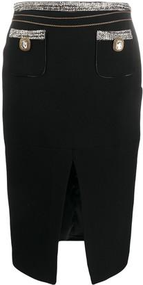 Elisabetta Franchi Front Slit Skirt