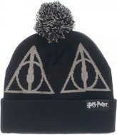 Bioworld Harry Potter Death Hallow Black Beanie Pom Hat