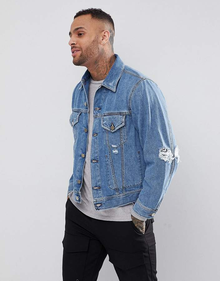 Diesel D-ROBIN Distressed Denim Jacket