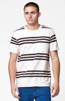 Modern Amusement Foote Triple Striped Pocket T-Shirt