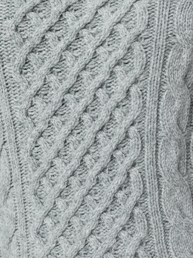 Drumohr cable knit crew neck jumper