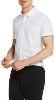 Scotch & Soda Dotted Slim Fit Button-Down Shirt