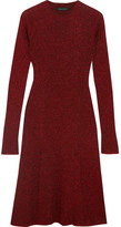 Cédric Charlier Metallic Ribbed-knit Dress - Claret