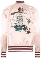 Valentino Embroidered satin bomber jacket