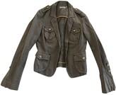 Pinko Grey Cotton Jacket for Women