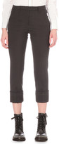 Brunello Cucinelli Cropped high-rise wool-blend trousers