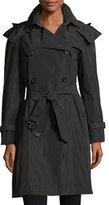 Burberry Amberford Packaway Rain Trench Coat, Black
