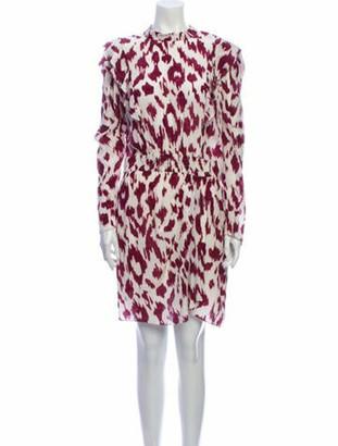 Etoile Isabel Marant Silk Knee-Length Dress White