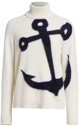 No.21 No. 21 Anchor Virgin Wool & Mohair Blend Turtleneck Sweater