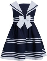 Bonnie Jean Girls Easter White / Nautical Sailor Uniforms Dress