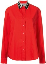 we11done contrast collar shirt