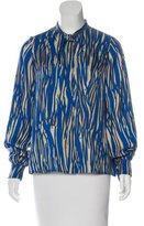 Rachel Zoe Abstract Print Button-Up Top