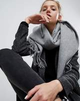 ASOS Lambswool Oversized Scarf with Tassels