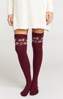MUMU On Dasher Knee High Sock ~ Maroon