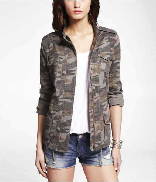 Express Camouflage Stretch Cotton Jacket