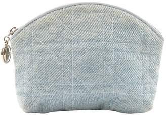 Christian Dior Blue Cloth Clutch bags