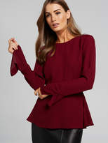 Portmans Pippa Peplum Split Sleeve Top