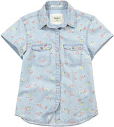 Pepe Jeans Sky blue floral shirt