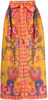 Zimmermann Lovestruck buttoned skirt