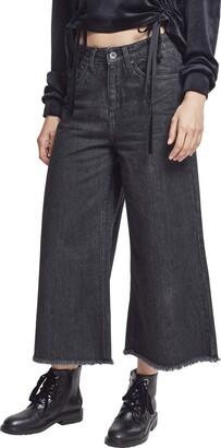 Urban Classics Women's Ladies Denim Culotte Trouser