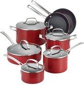 Circulon Genesis Aluminum Nonstick 12-Piece Cookware Set, Red - 11 - 13 pc
