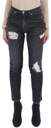 Heron Preston Distressed Straight Leg Jeans