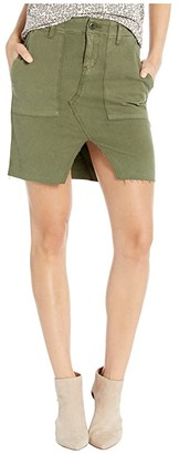 Hudson Jeans Lulu Military Cargo Skirt in Washed Troop (Washed Troop) Women's Skirt