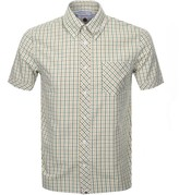 Pretty Green Short Sleeve Check Shirt Khaki