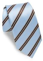 Ike Behar Blue & Brown Stripe Tie