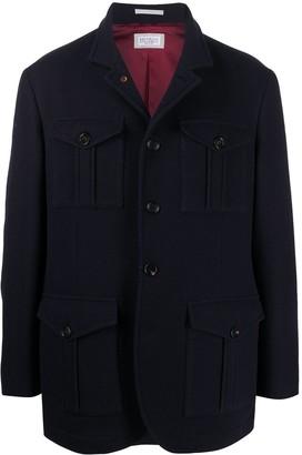 Brunello Cucinelli Single-Breasted Multi-Pocket Jacket
