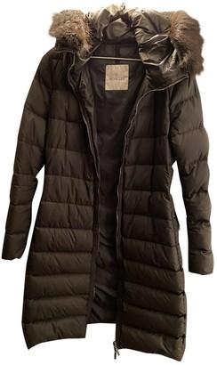 Moncler Long Green Synthetic Coats