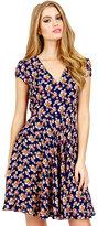 Betsey Johnson Tiny Flowers Short Sleeve Dress