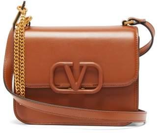 Valentino V-sling Small Leather Shoulder Bag - Womens - Brown