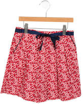 Jacadi Girls' Pleated Floral Skirt