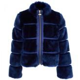 Supertrash Navy Faux Fur Jacket