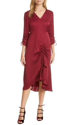 Ted Baker Rivvaa Ruched Long Sleeve Dress