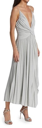 Halston Jody Pleated Midi-Dress
