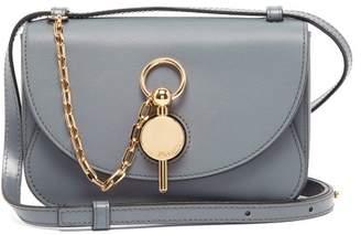 J.W.Anderson Keyts Mini Leather Cross-body Bag - Womens - Dark Grey