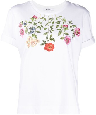 VIVETTA floral-print cotton T-shirt