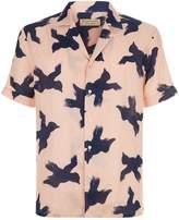 Burberry Bird Print Linen Shirt