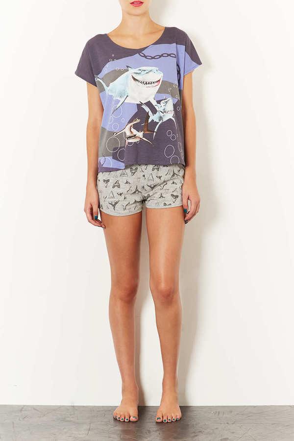 Topshop Nemo Shark Print Pyjama Set